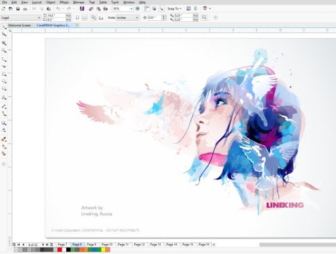 CorelDRAW Graphics Suite X7 Interface