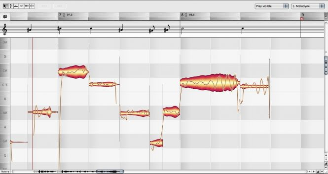 Melodyne Editor Interface