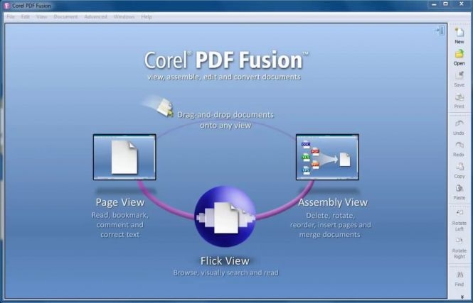 PDF Fusion Welcome Screen