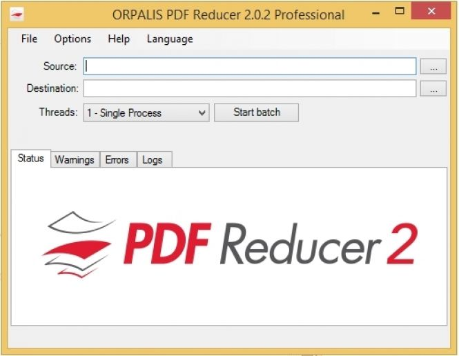 PDF Reducer Interface