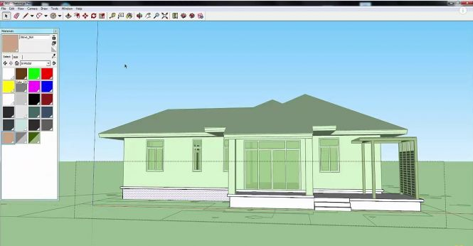SketchUp Pro 2015 Interface