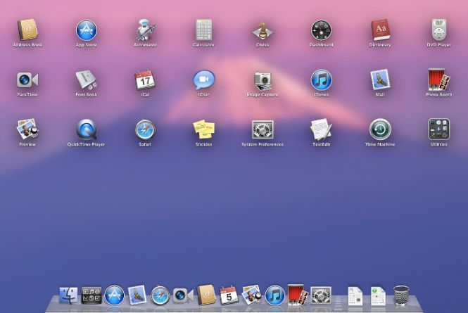 Mac OS X Lion desktop