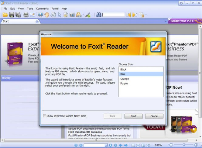 Foxit Reader main page