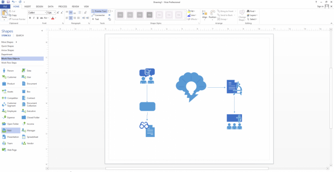 Visio Professional 2013 interface