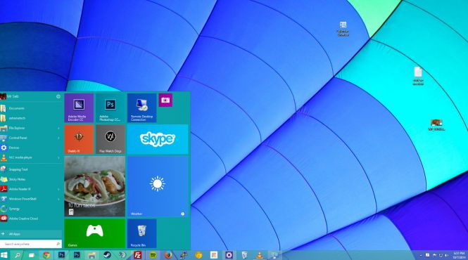 Windows 10 Enterprise desktop
