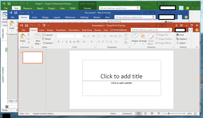 Microsoft Office 2016 editing tools