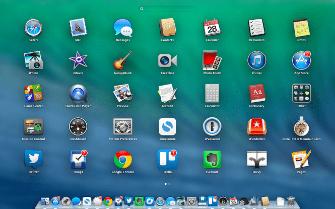 Mac OS X Mavericks 10.9.5 desktop and icons