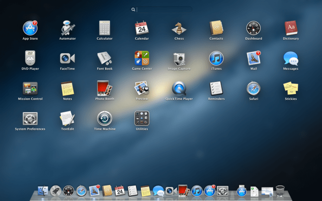 Mac OS X Mountain Lion 10.8.5 interface and icons