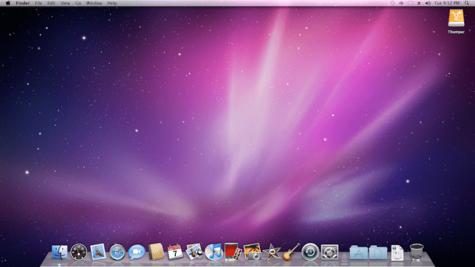Mac OS X Snow Leopard desktop