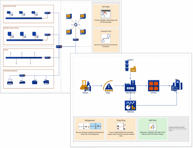 Microsoft Visio 2016 diagrams