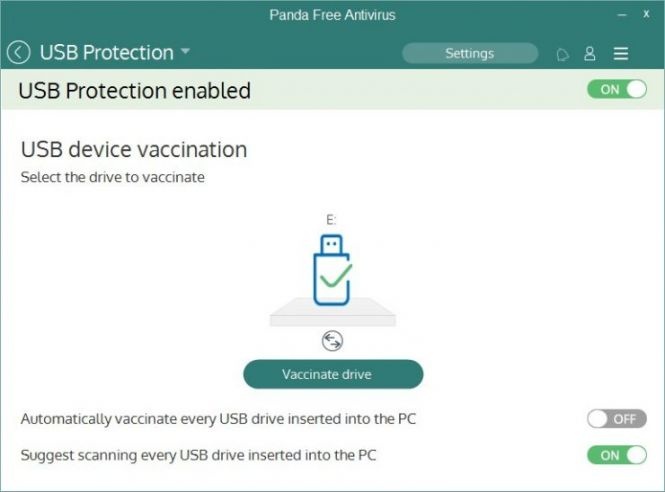 Panda Free Antivirus 2016 USB protection