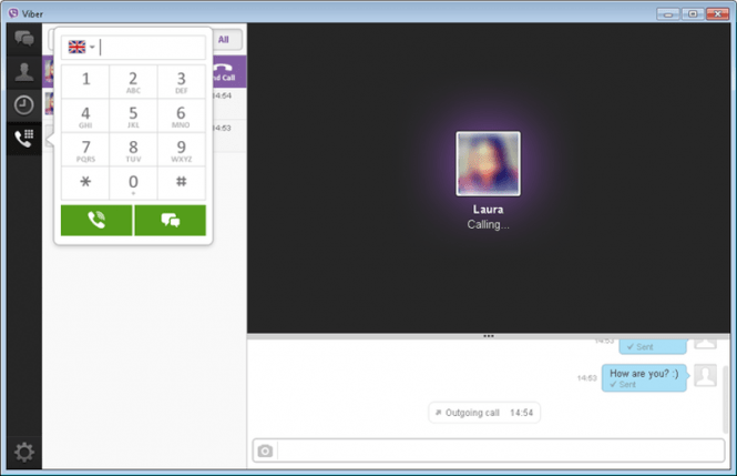 Viber for Windows: interface