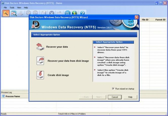 Disk Doctors Windows Data Recovery interface