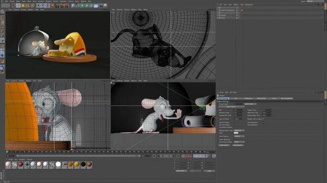 Cinema 4D R13 interface