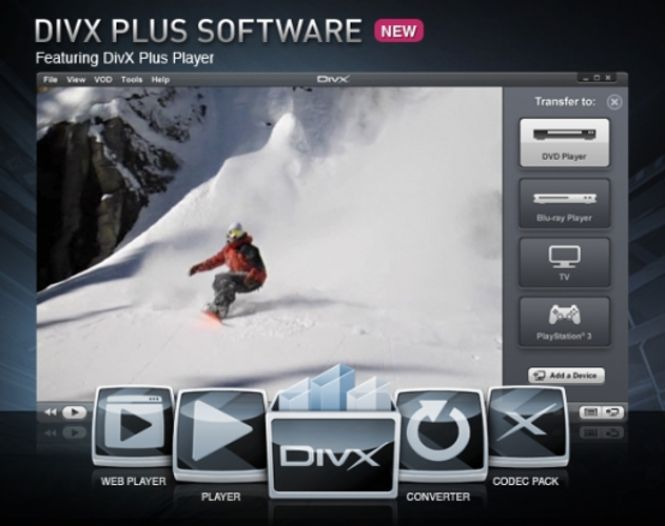DivX Plus Pro functionality and interface