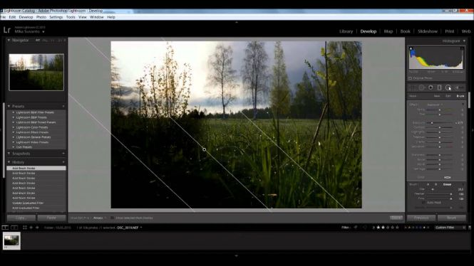 Adobe Photoshop Lightroom interface