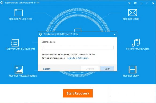 TogetherShare Data Recovery receiving an update