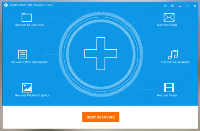 TogetherShare Data Recovery interface