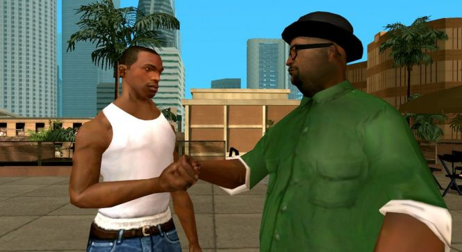 CJ and Big Smoke, the main characters of GTA: Sand Andreas