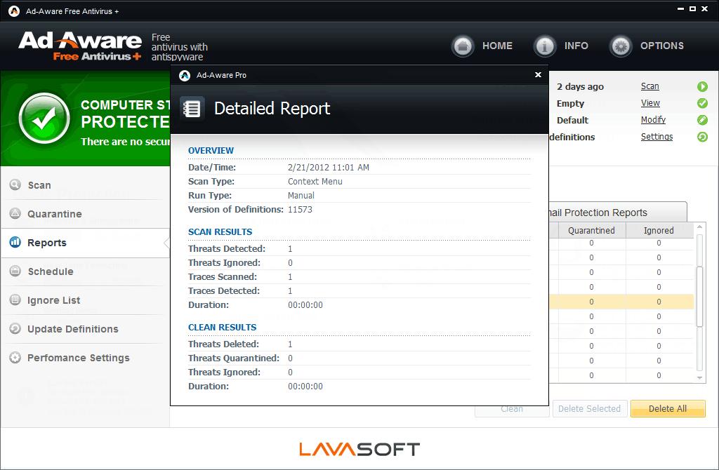 Ad-Aware Free Antivirus+ screenshot