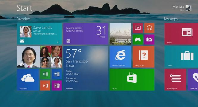 Windows 8.1 Pro menu
