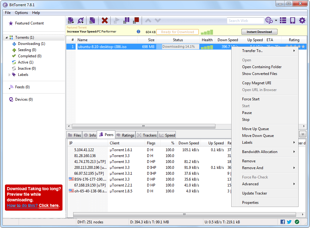 Free Download Torrent: Download In One Click. Virus Free