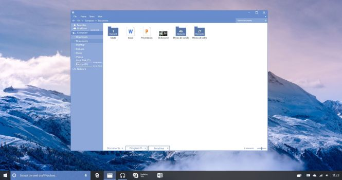 Windows 10 Enterprise Redstone Build interface