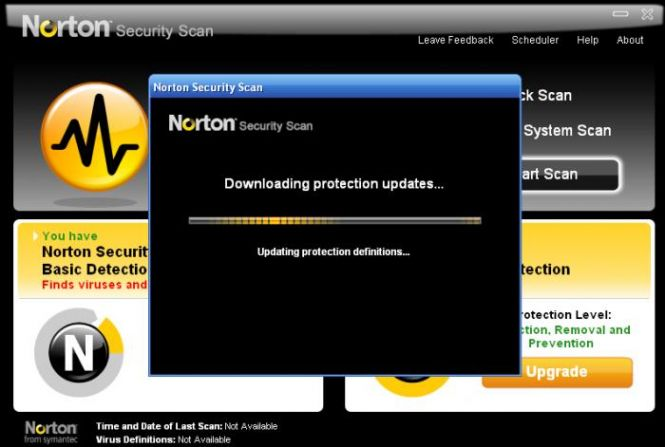 Norton Security Scan updating