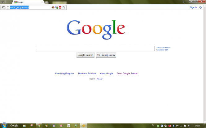 Google Chrome interface
