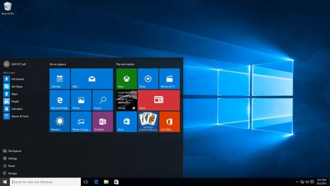 Windows 10 Pro VL desktop