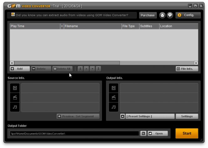 GOM Video Converter interface