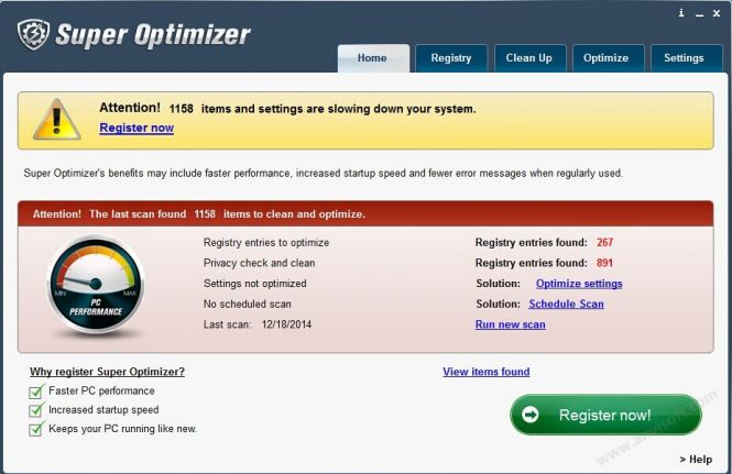 Super Optimizer window