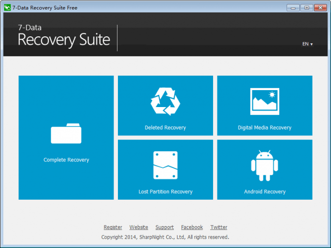 7-Data Recovery Suite interface