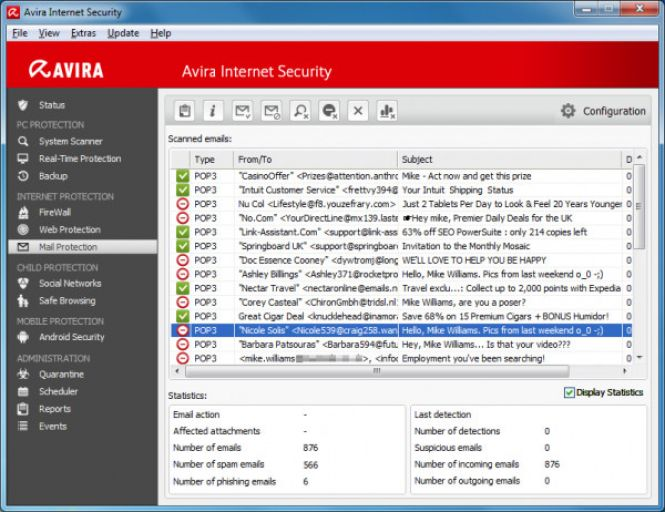Avira Internet Security features