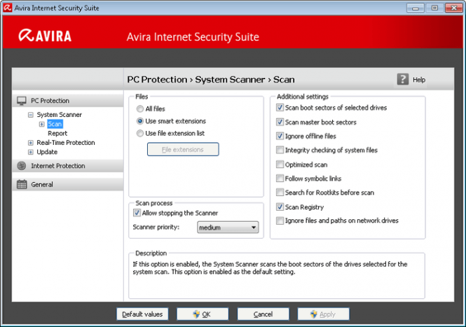 Avira Internet Security Suite features