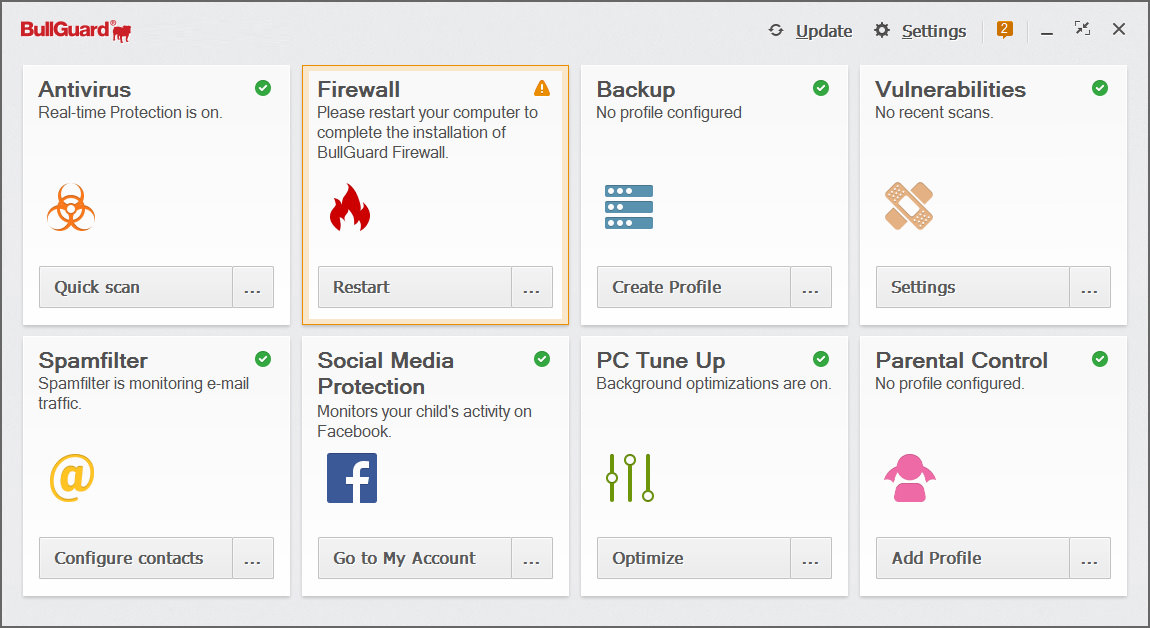 BullGuard Internet Security 19 - download in one click